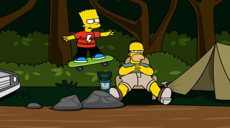 Captura de pantalla - Bart Simpson: Skateboarding